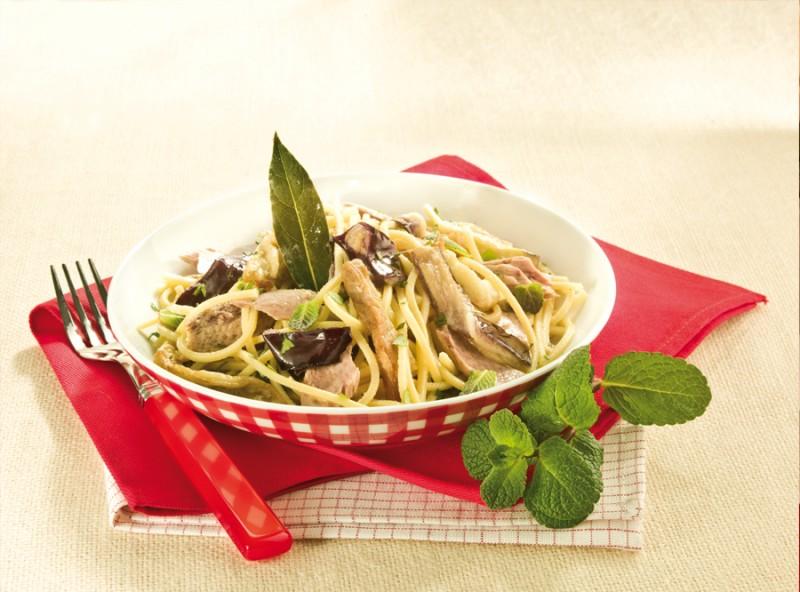 Spaghetti Tonno e Melanzane